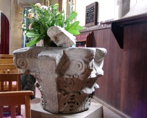Edwin Freshfield, who funded the building of this church, collected numerous Byzantine artifacts, like this stone capital from Constantinople.