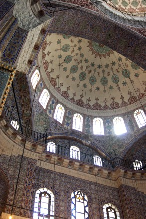 The ring of clerestory windows round the central dome of the New Mosque