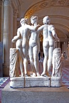 Three Graces, 11th century Roman sculpture, based on a Greek model from around 300BC, heads restored in 1609