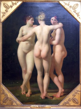 The Three Graces; 1794: by Baron Jean-Baptiste Regnault, 1754-1829