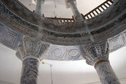 The original non-representational decorations, like these marble column capitals were left untouched in the conversion of this building from Christian to Islam.
