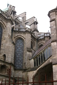 Unlike with most great gothic cathedrals, the functions of the external features of the building aren't always obvious.