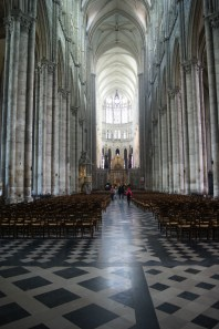 The nave of Amiens Cathedral, looking towards the apse