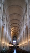 The impressive nave of the Basilica has a very high barrel vault.