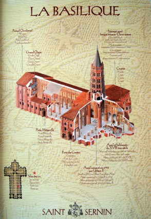 The plan of the basilica is a very common cruciform shape with a central spire