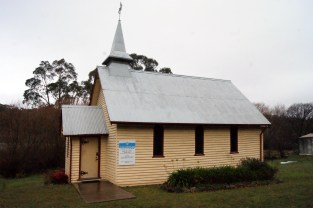 This little wooden church in rural Australia was built in 1926 and is still used for services twice a month.