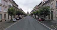 Reims cathedral from the other end of Rue Libergier