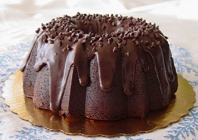 Bundt cake with 'sprinkles' on the top