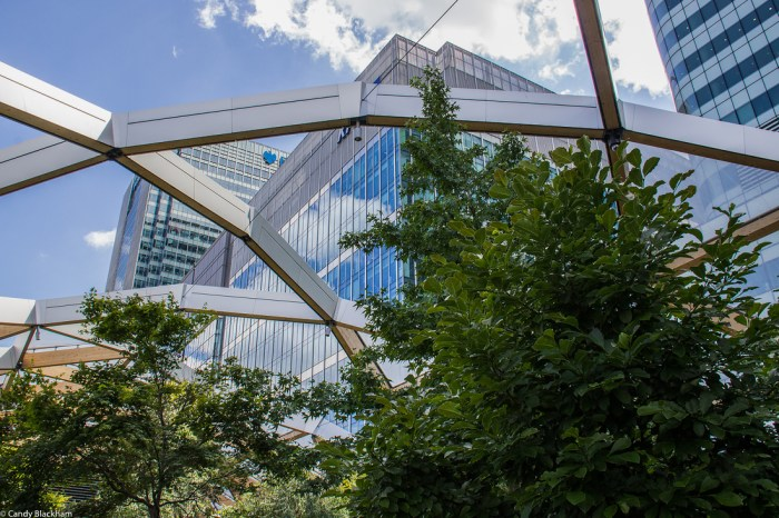 Crossrail Roof Garden at Canary Wharf