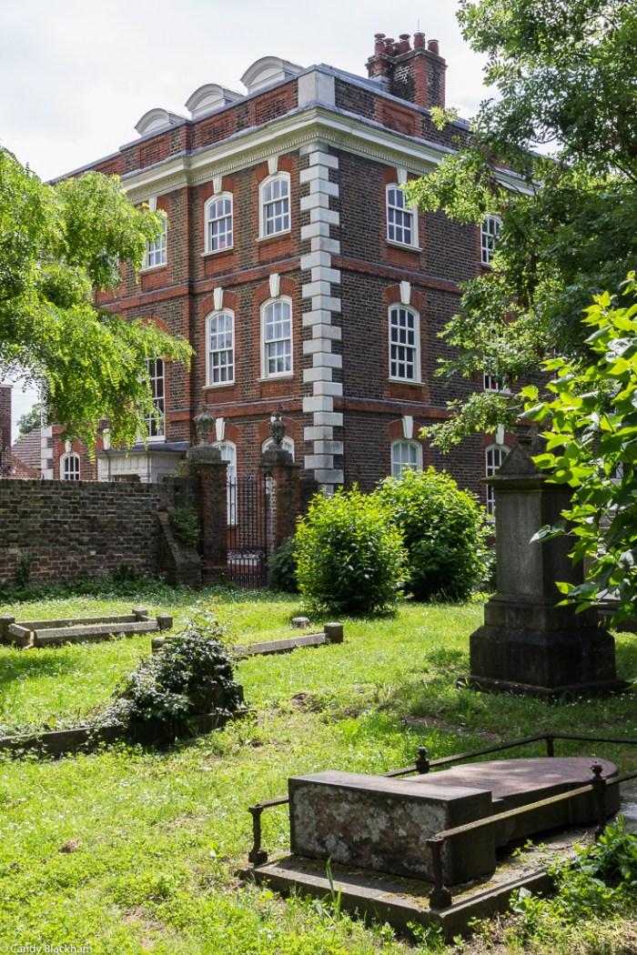 Rainham Hall from the churchyard