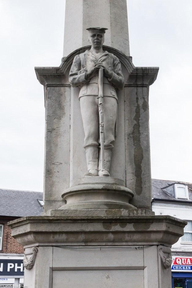 The sailor on the War Memorial