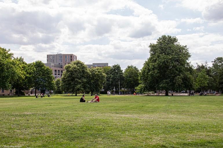 Just enjoying the sunshine in Fordham Park