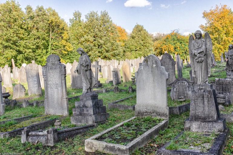 Tombstones in Brockley Cemetery