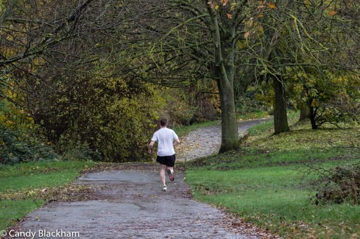 Running in Mountsfield Park