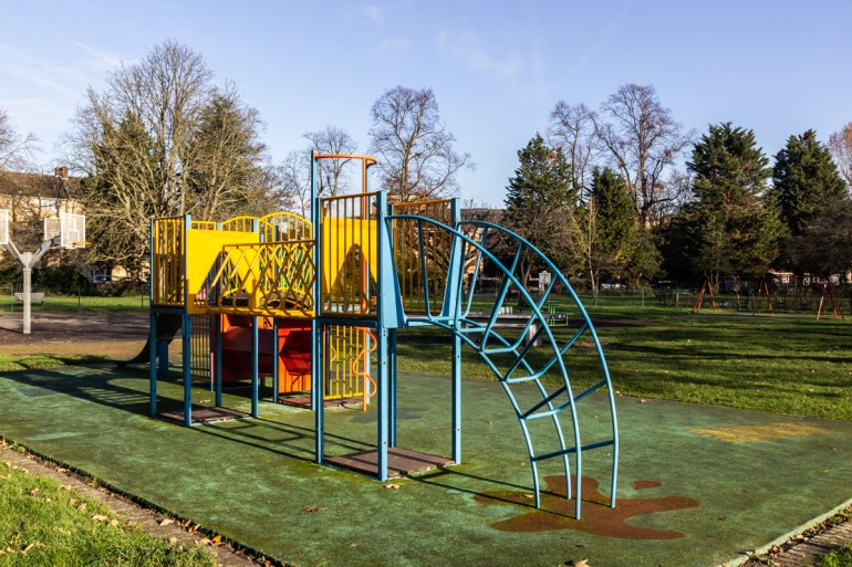 Children's playground in Lewisham Park in South East London