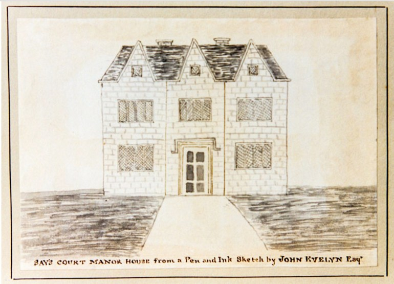 Sayes Court c.1720 (www.ideal-homes.org.uk)