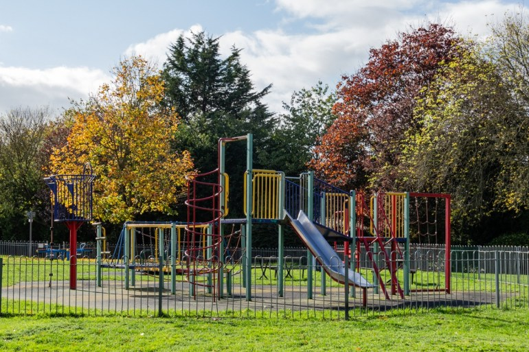 Children's play area in Southend Park in SE London