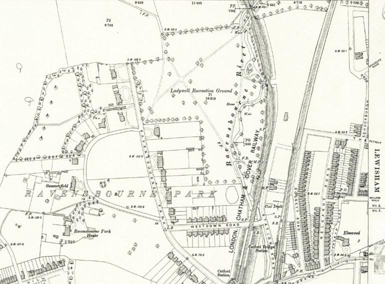 South Field Ladywell Fields map