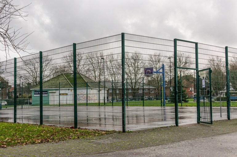 Ball Court on Bellingham Green in SE London