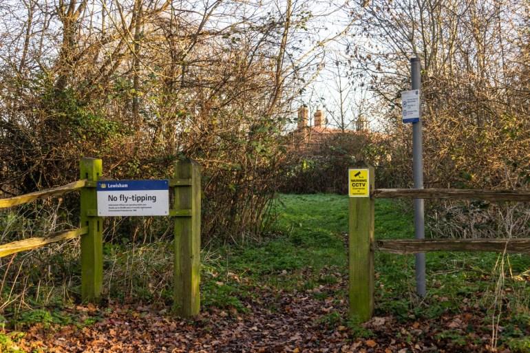 Entrance to Sydenham Cottages Nature Reserve