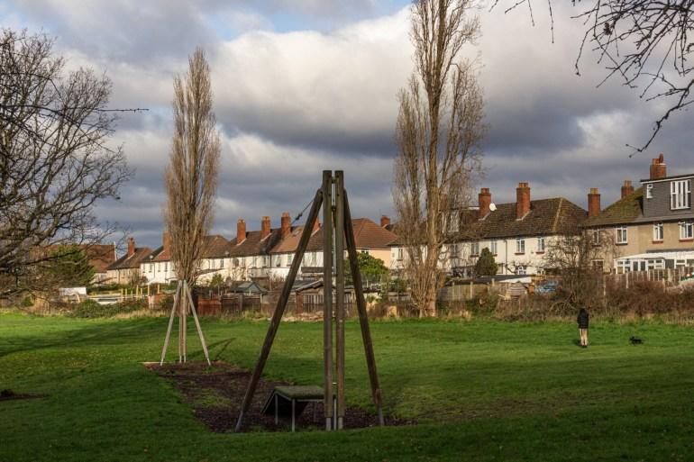 Children's slide in Chinbrook Meadows in Grove Park