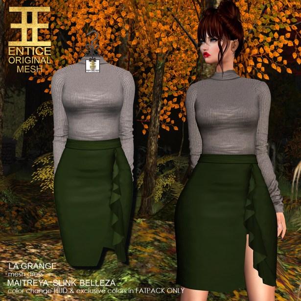 La Grange Dress in Green