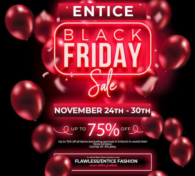 Entice – Black Friday Sale!!!