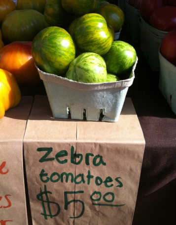 Zebra tomatoes; Enticing Healthy Eating