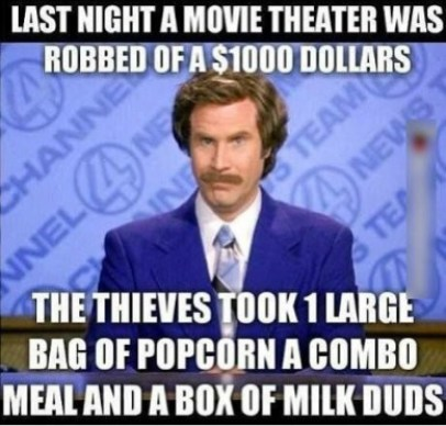 Movie theaters expensive food meme