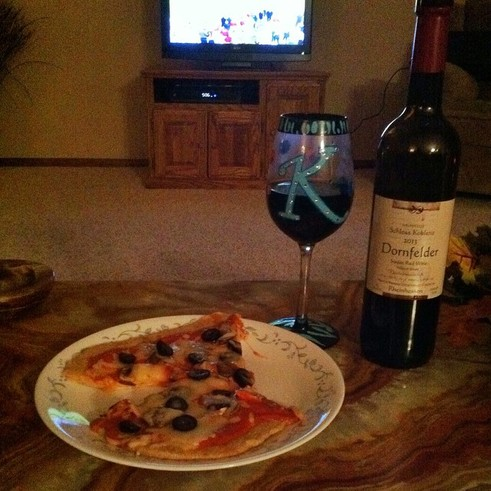 pizza and wine; Enticing Healthy Eating