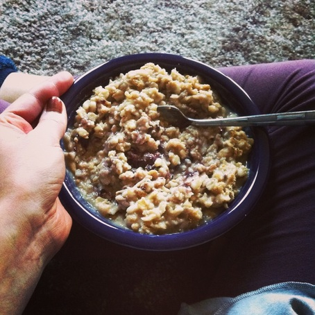 PB&J Oatmeal; Enticing Healthy Eating