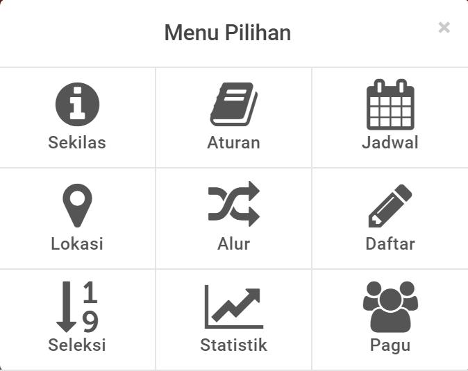 menu laman pendaftaran ppdb sma smk kalteng