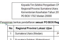 Alamat PO BOX Pengiriman Berkas CPNS Kementerian Kesehatan Kemkes