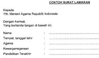 Contoh Surat Lamaran dan Surat Pernyataan CPNS