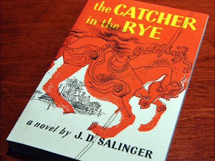 """A January 28, 2010 photo shows a copies of """"The Catcher in the Rye"""" by author J.D. Salinger at a bookstore in Washington, DC. J.D. Salinger, the reclusive author of """"The Catcher in the Rye,"""" has died at 91, his agent said January 28, raising tantalizing questions over whether the legendary writer might have left behind a hoard of unpublished works. AFP PHOTO/Mandel NGAN (Photo credit should read MANDEL NGAN/AFP/Getty Images) Original Filename: Was2837936.jpg"""