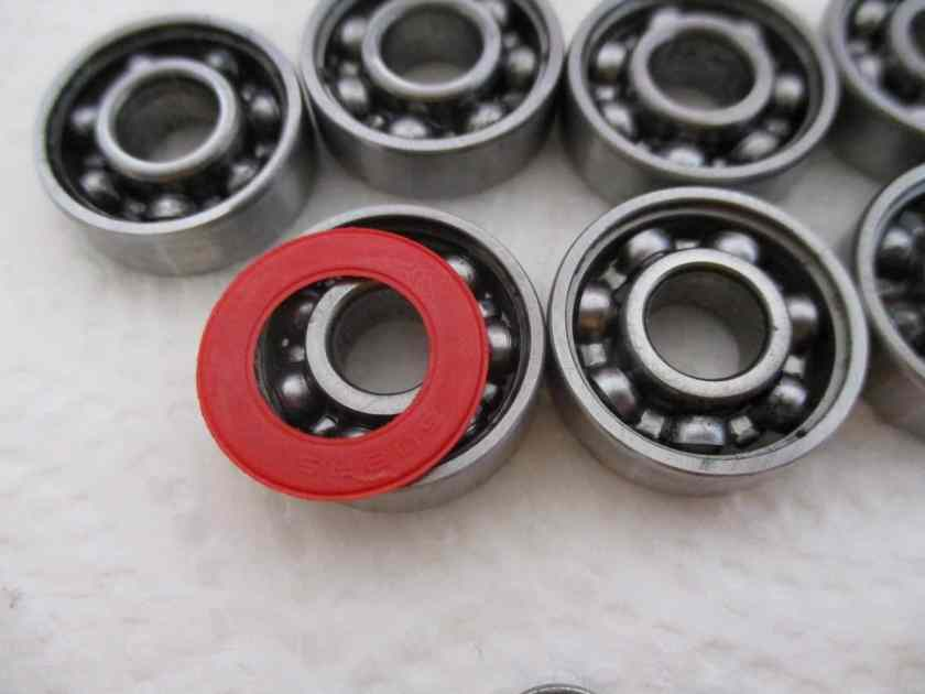 clean skateboard bearing 11