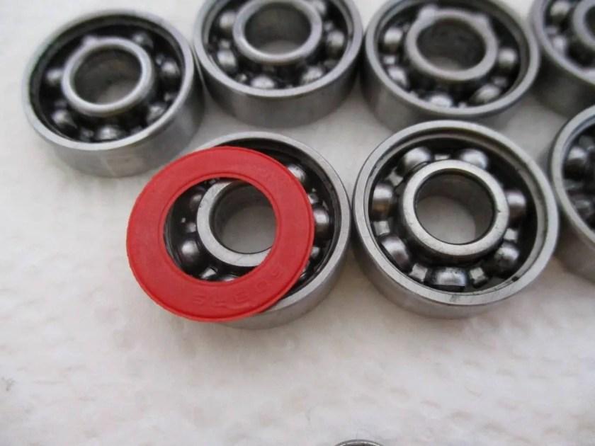 clean skateboard bearing 11
