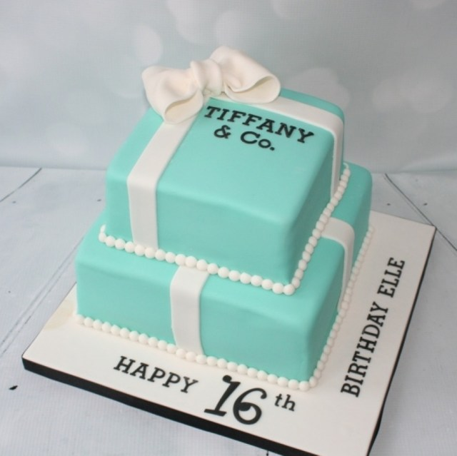 16Th Birthday Cakes 16th Birthday 2 Tier Tiffany Box Cake