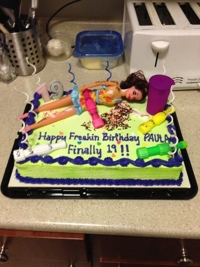 19 Birthday Cake 19th For Paula Or Kris Lol Smiles Pinterest