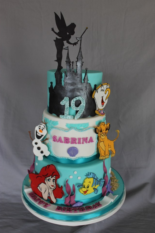 19 Birthday Cake Disney Themed Birthday Cake Cakecentral