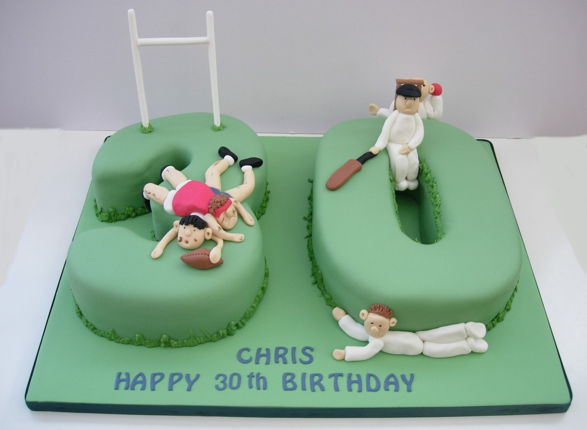 30Th Birthday Cake Ideas Sporty 30th Birthday Cake Fun Cakes