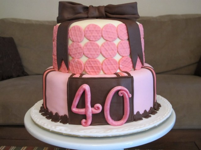 40Th Birthday Cakes For Her 11 40 Birthday Cakes For Ladies Photo 40th Birthday Cake Ideas