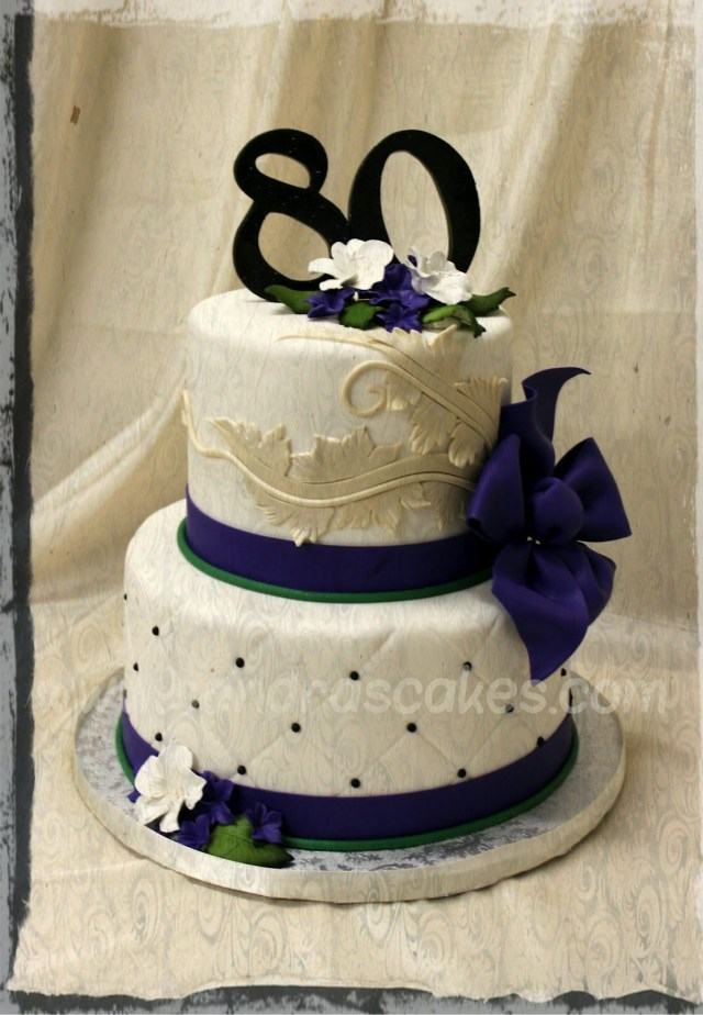 80Th Birthday Cake Elegant 80th Birthday Cakes Elegant Birthday Cakes On 80th Cake