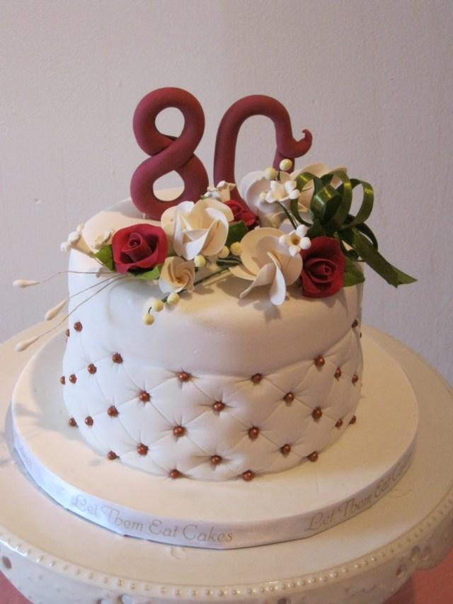 80Th Birthday Cake Let Them Eat Cakes 80th Birthday