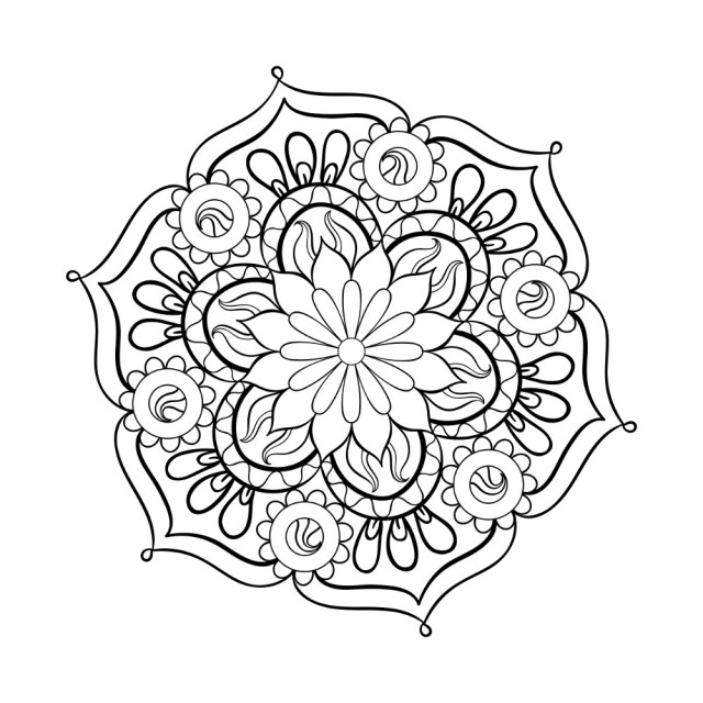 Adult Coloring Pages To Print Coloring Pages Mandala Adult Coloring Page 4 Grown Up Pagestable