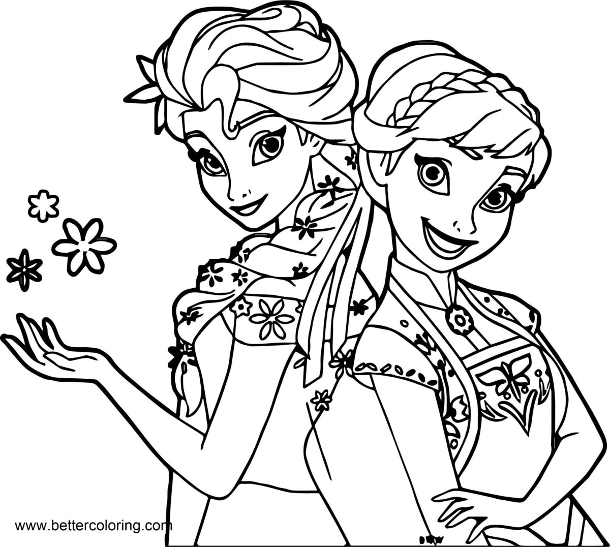 Anna Coloring Pages Frozen Elsa And Anna Coloring Pages Free