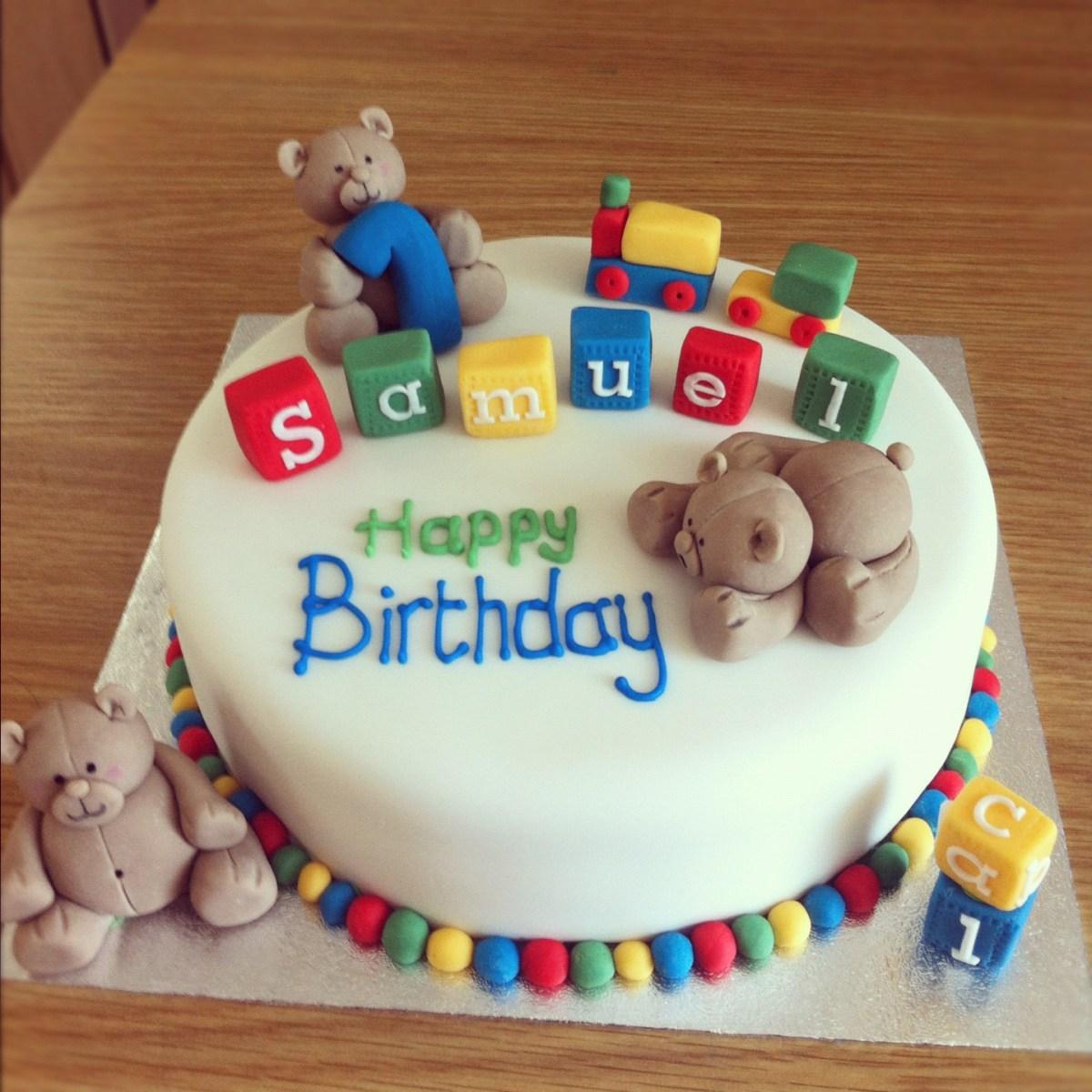 Baby Boy Birthday Cakes 15 Ba First Cake Ideas