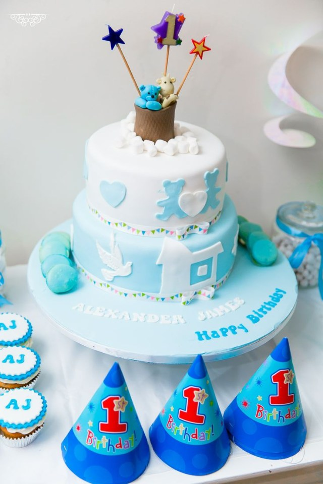 Baby Boy Birthday Cakes 6 Ba First Photo Cake