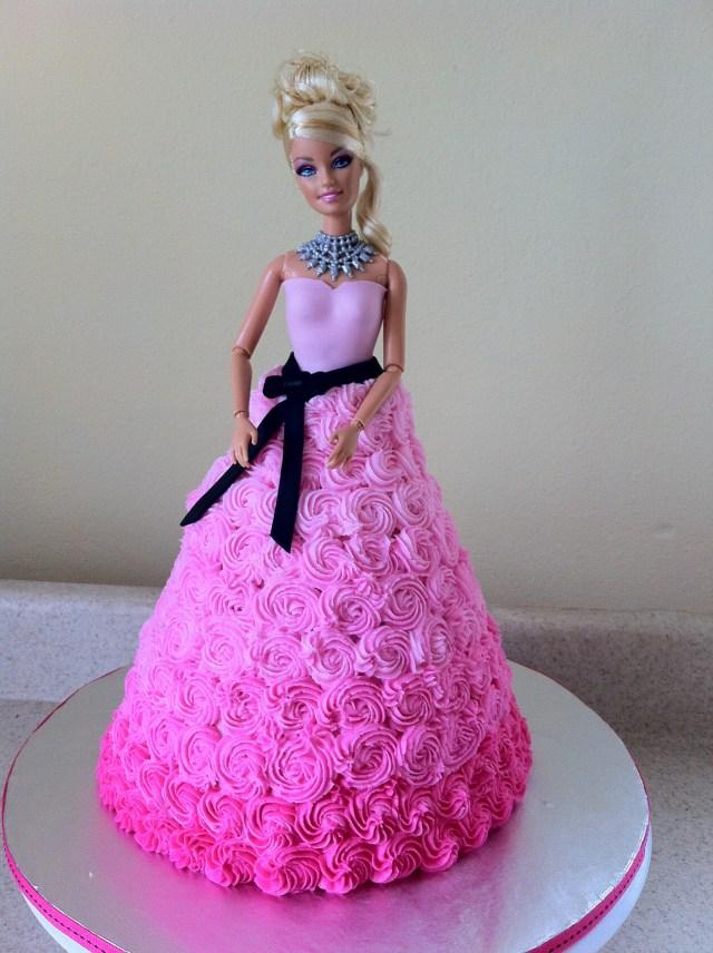 Barbie Birthday Cakes Pink Swirl Barbie Birthday Cake Lolos Cakes Sweets