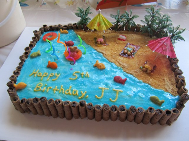 Beach Birthday Cake Beach Cake I Think Ill Do Something Like This For Josies Pool